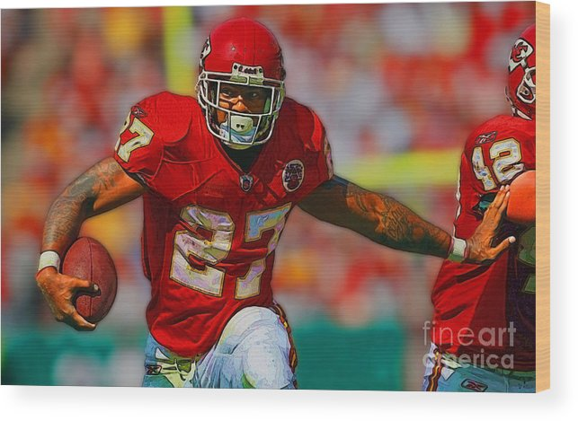 Graphics Wood Print featuring the photograph Kansas City Chiefs-washington by Herb Paynter