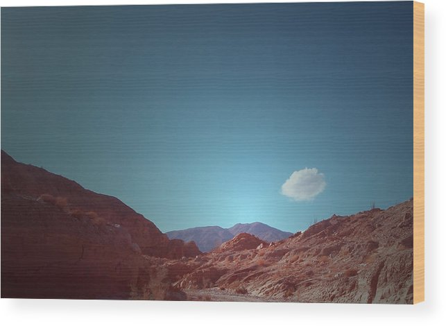 Wood Print featuring the photograph Lonely Cloud by Naxart Studio