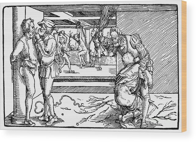 Medieval Torture Wood Print