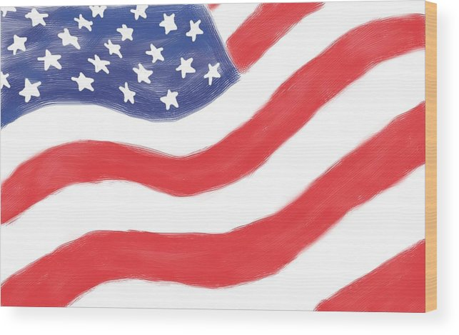 American Flag Wood Print featuring the digital art Our Flag by Heidi Smith