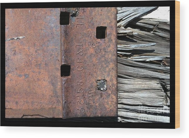 Marlene Burns Wood Print featuring the photograph Streets Of Tucson 154 by Marlene Burns
