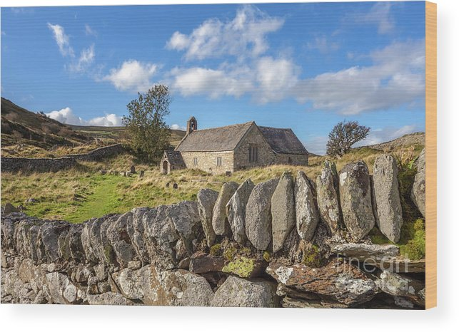 Welsh Church Wood Print featuring the photograph Ancient Welsh Church by Adrian Evans