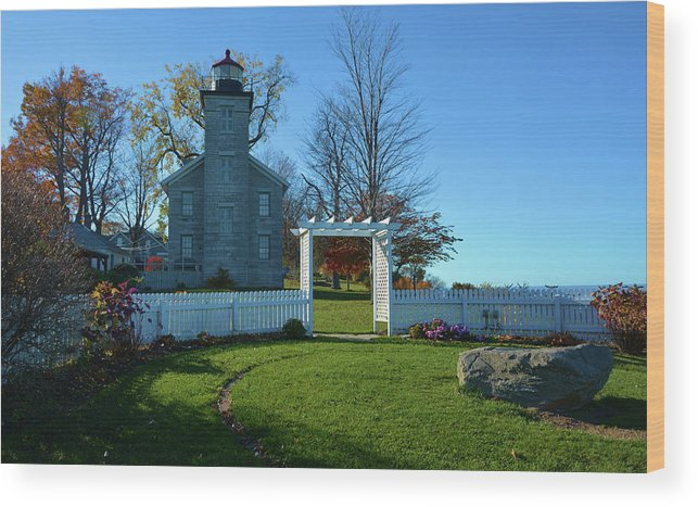 Scenic Wood Print featuring the photograph Big Sodus Lighthouse by Richard Jenkins