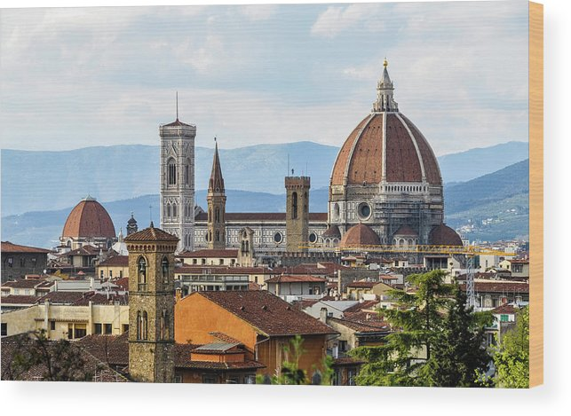 Tuscany Wood Print featuring the photograph Il Duomo In Florence by Dutourdumonde Photography
