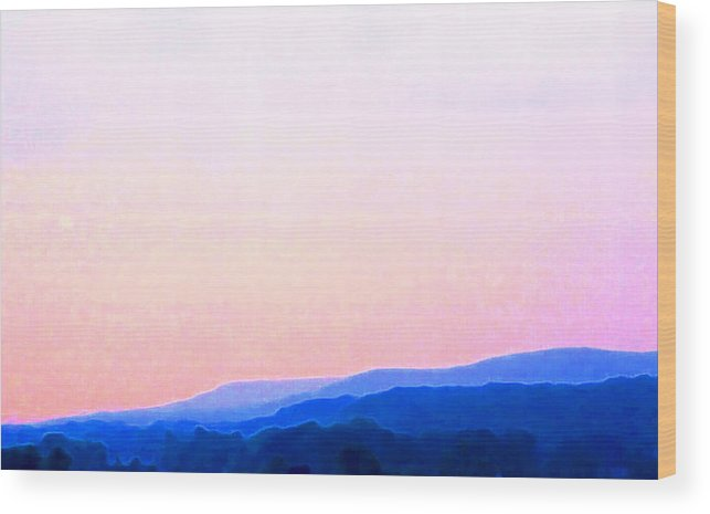 Abstract Wood Print featuring the photograph In The Hills by Lyle Crump