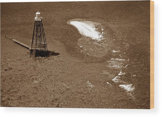Lighthouses Wood Print featuring the photograph Sand Key Lighthouse Fl by Skip Willits
