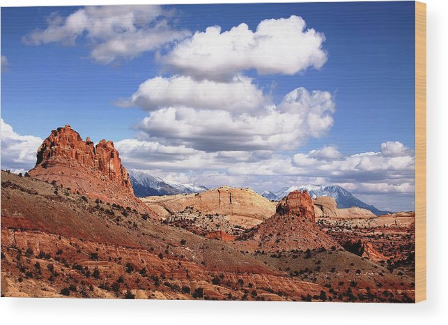 Capitol Reef National Park Wood Print featuring the photograph Capitol Reef National Park Burr Trail by Mark Smith