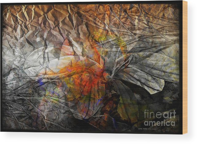 Abstraction Wood Print featuring the digital art Abstraction 3416 by Marek Lutek