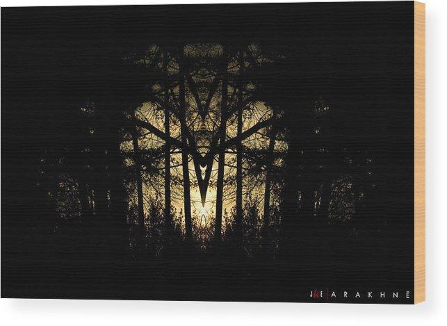 Spider Wood Print featuring the photograph Arakhne by Jonathan Ellis Keys