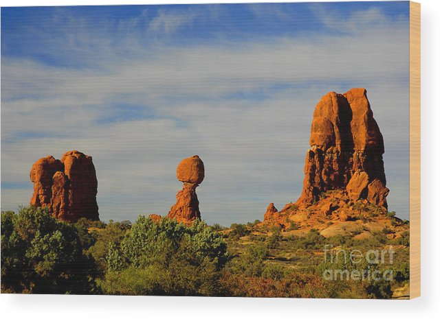 Arches Wood Print featuring the photograph Balanced Rock by Dennis Hammer