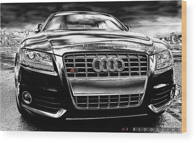 Audi Wood Print featuring the photograph Bloodline by Jonathan Ellis Keys