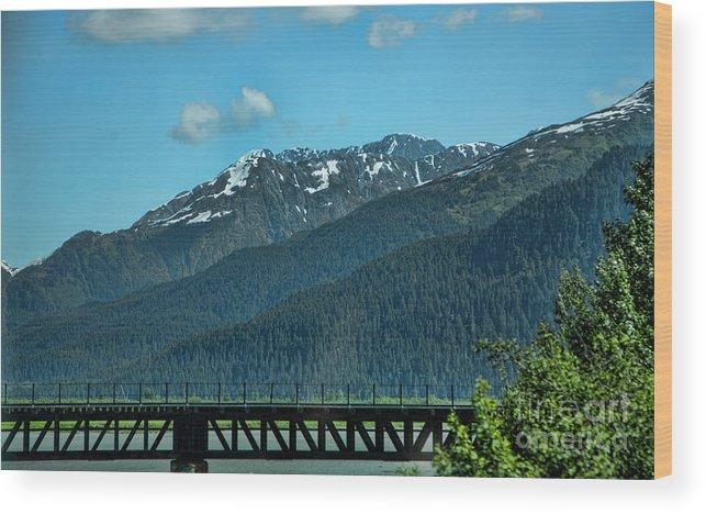 Alaska Wood Print featuring the photograph Bridge Alaska Rail by Chuck Kuhn
