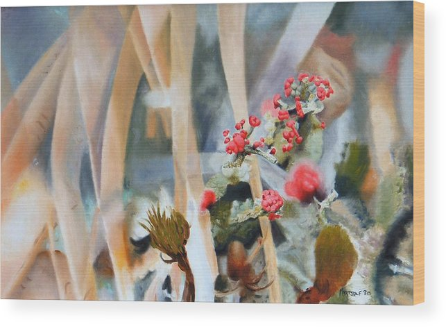 Nature Wood Print featuring the painting British Soldiers by Dave Martsolf