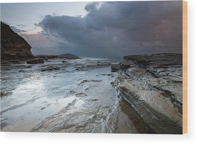 Australia Wood Print featuring the photograph Colours Of A Storm - Seascape by Merrillie Redden