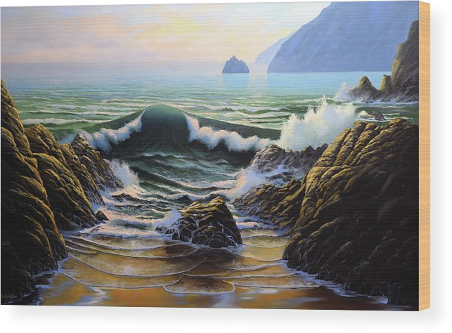 Dancing Tide Wood Print featuring the painting Dancing Tide by Frank Wilson
