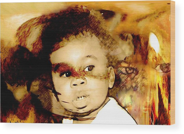 Portrait Wood Print featuring the photograph Dread by LeeAnn Alexander