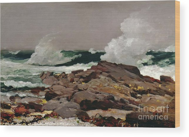 Winslow Homer Wood Print featuring the painting Eastern Point by Winslow Homer