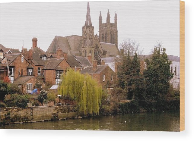 Cityscape Wood Print featuring the photograph English Village by Mindy Newman