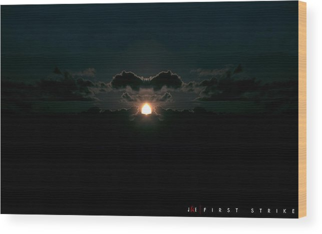 Nuclear Wood Print featuring the photograph First Strike by Jonathan Ellis Keys