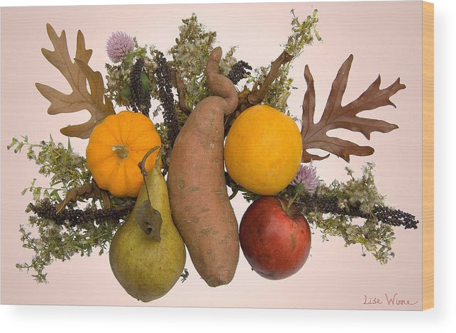 Food Bouquet Wood Print featuring the digital art Food Bouquet by Lise Winne