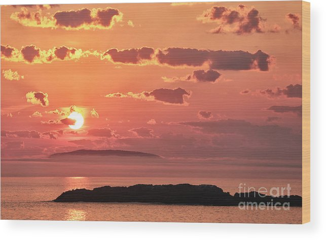 Sunrise Wood Print featuring the photograph Hazy Sunrise by Susan Garver