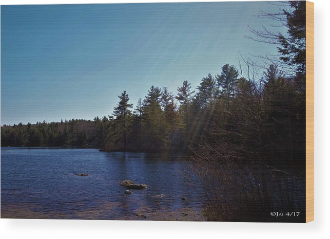 Lake Wood Print featuring the photograph His Shining Light by Jai Cobino
