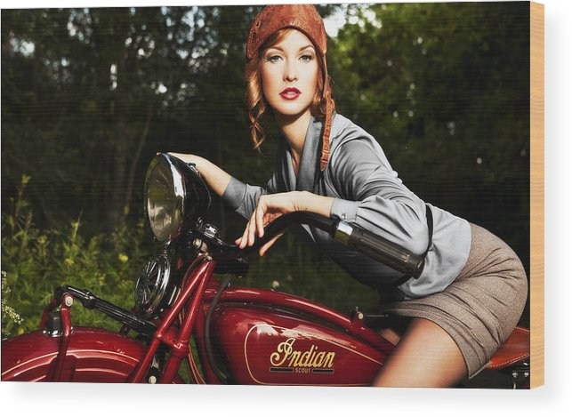 Indian Wood Print featuring the photograph Indian Scout by Matt Haig