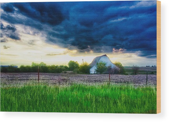 Kansas Wood Print featuring the photograph Kansas County by Dustin Soph