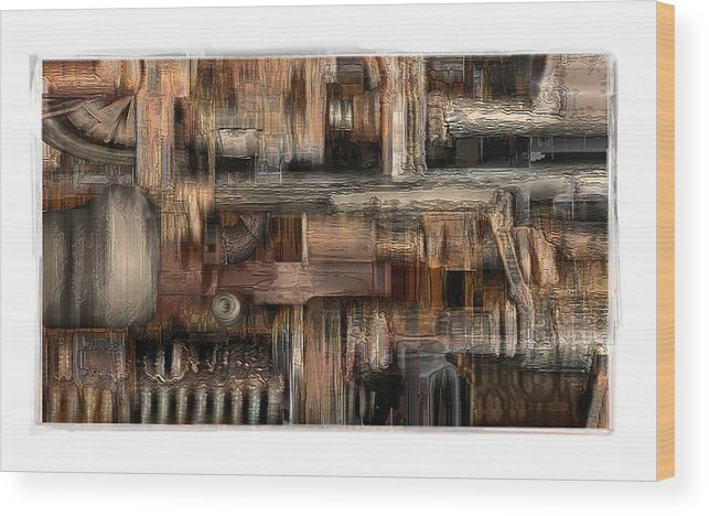 Still Life Wood Print featuring the digital art Lathe by Nuff