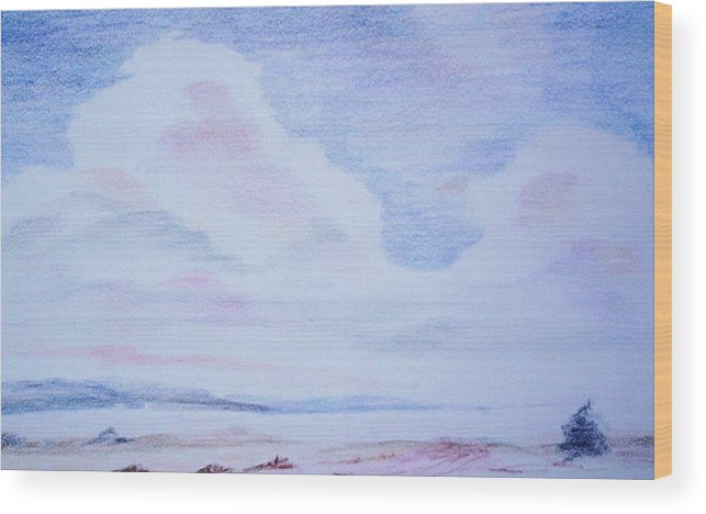 Landscape Painting Wood Print featuring the painting On The Way by Suzanne Udell Levinger