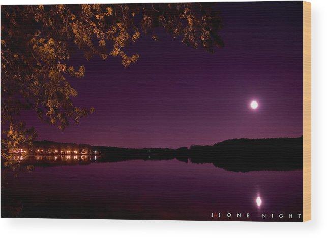 Lake Wood Print featuring the photograph One Night by Jonathan Ellis Keys