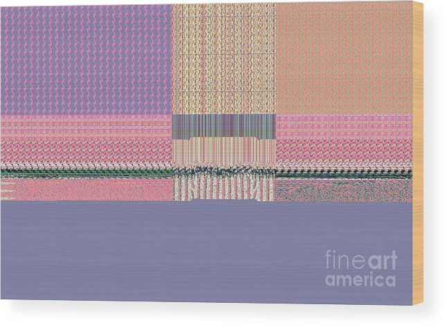 Digital Wood Print featuring the digital art Quilt's Edge by Thomas Smith