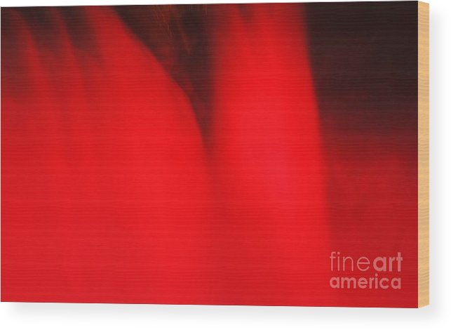 Niagara Falls Wood Print featuring the photograph Red Red Red by Kathleen Struckle