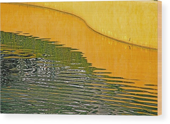 Fine Art Refections Photography. Fine Art Refection Greeting Cards. Refection Pictures. Yellow Wall Refections. Water Refections. Colored Water Photography. Fine Art Photographygreeting Cards Fine Art Canvas Prints. Wood Print featuring the photograph Refections Of Color by James Steele