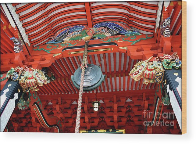 Shrine Wood Print featuring the photograph Shinto Shrine by Eena Bo