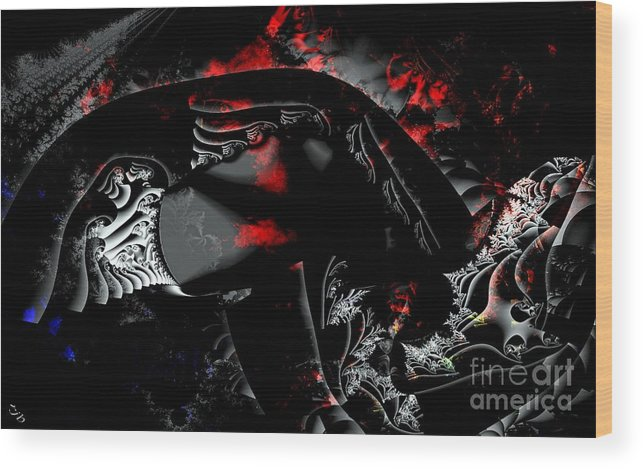 Nebula Wood Print featuring the digital art Somewhere In The Black Nebula by Ron Bissett