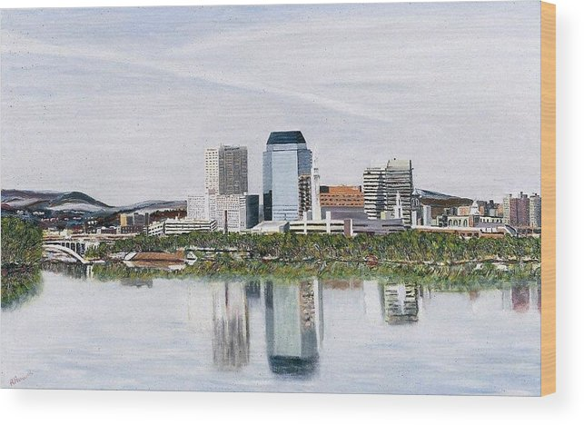 Reflections Wood Print featuring the painting Springfield Reflections by Richard Nowak