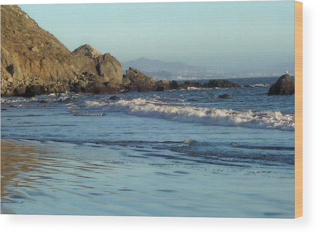 Beach Wood Print featuring the photograph The Beach 2 by Elizabeth Klecker