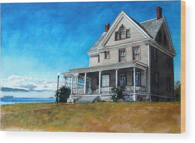 Old House Wood Print featuring the painting The Colonel's House by Perry Woodfin