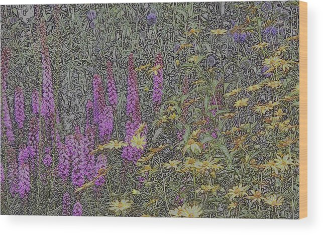 Lupines Wood Print featuring the photograph The Hill by Scott Heister