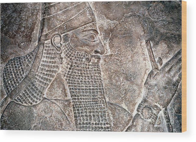 8th Century B.c. Wood Print featuring the photograph Tiglath Pileser IIi by Granger
