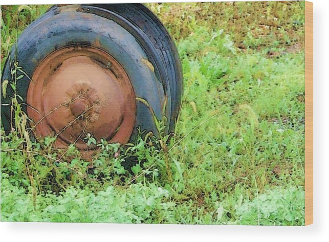 Tire Wood Print featuring the photograph Tired by Debbi Granruth