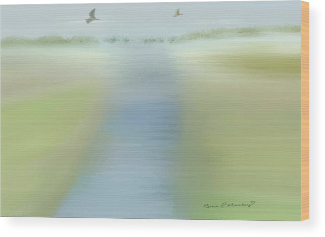Mixed Wood Print featuring the painting Tranquility by Gina Lee Manley