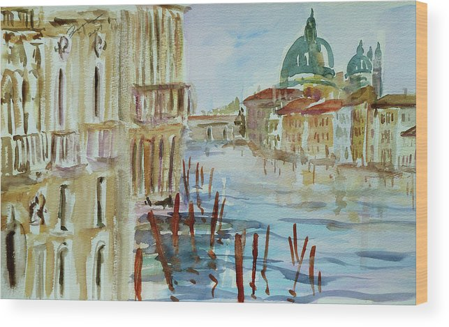 Venice Wood Print featuring the painting Venice Impression IIi by Xueling Zou