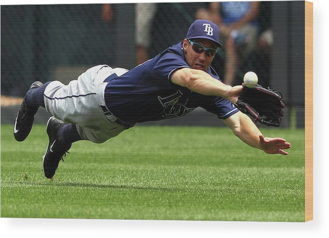 People Wood Print featuring the photograph Tampa Bay Rays V Kansas City Royals 2 by Jamie Squire