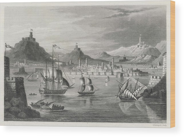 Algiers Wood Print featuring the drawing Algiers Viewed From The Sea by Mary Evans Picture Library