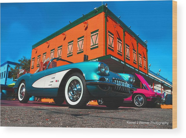 1960 Corvette Wood Print featuring the photograph 1960 Corvette by Kornel J Werner