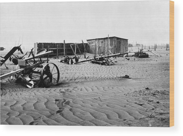 1930 Wood Print featuring the photograph Dust Bowl, C1936 by Granger