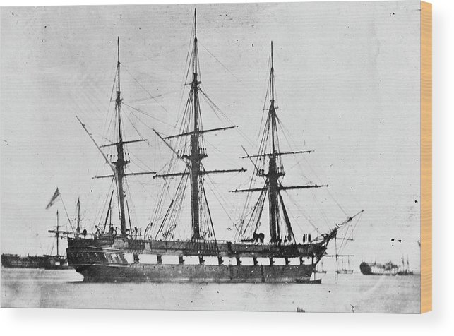 Hms Challenger Wood Print featuring the photograph Hms Challenger by Natural History Museum, London/science Photo Library