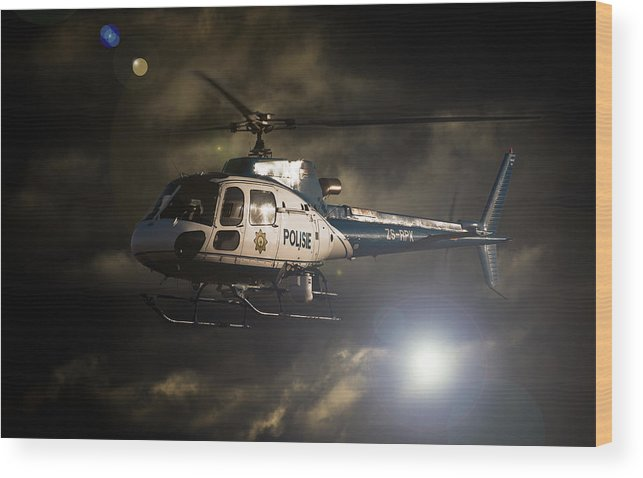 Eurocopter As350 B3 Wood Print featuring the photograph Police by Paul Job
